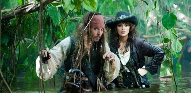 "Johnny Depp e Penélope Cruz contracenam em ""Piratas do Caribe 4"""