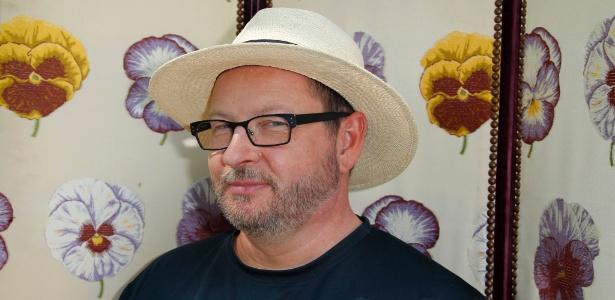 O cineasta Lars Von Trier concede entrevista em Mougins, após ser banido do Festival de Cannes