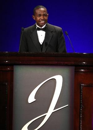 Jackie Robinson discursa durante jantar de caridade em Nova York (16/03/2009)