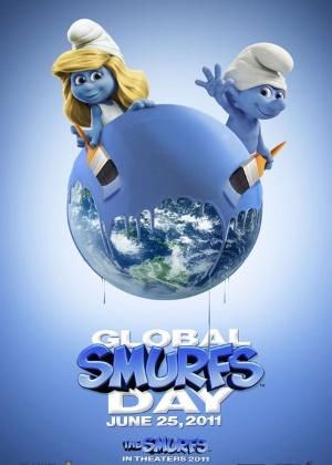 Pôster do Dia dos Smurfs - Divulgação