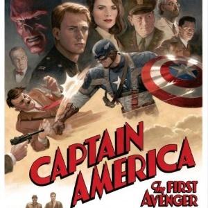 """Pôster do filme """"Capitão América: O Primeiro Vingador"""" feito pelo artista Paolo Rivera - Reprodução"""