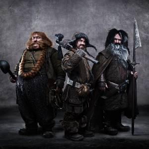 """Bifur (William Kircher), Bofur (James Nesbitt) e Bombur (Stephen Hunter) de """"The Hobbit: An Unexpected Journey"""" - Divulgação"""