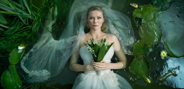 "Kirsten Dunst em cena do filme ""Melancolia"", de Lars Von Trier"