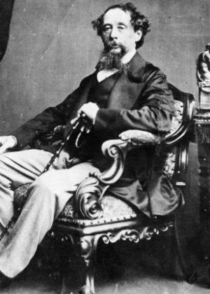 O escritor britânico Charles Dickens - Reprodução