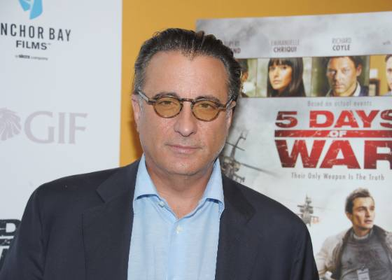 """O ator Andy Garcia participa da première """"5 Days of War"""" em Nova York (16/8/2011)"""