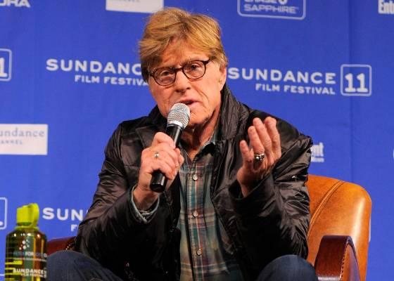 Robert Redford fala durante a coletiva de imprensa do Festival de Sundance 2011 (20/01/2011)
