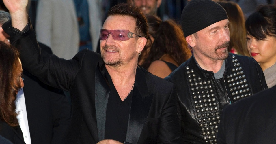 Bono e The Edge participam do Festival de Cinema de Toronto (8/9/2011)