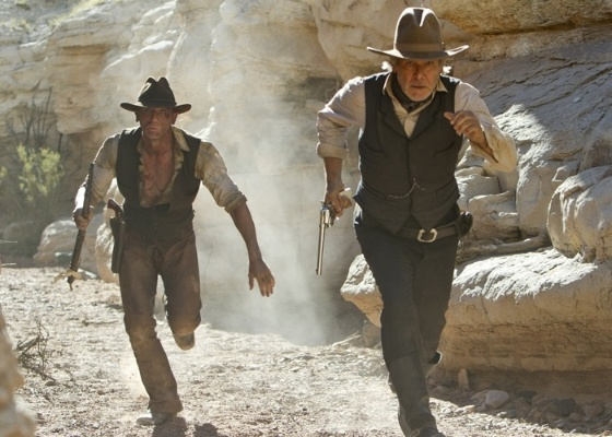 "Cena do filme ""Cowboys & Aliens"""