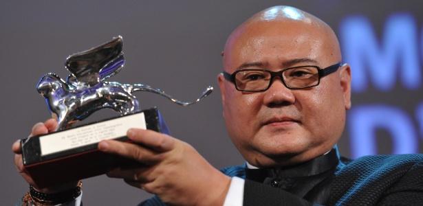 O diretor chinês Shangjun Cai ganhou neste sábado o Leão de Prata de melhor diretor da 68ª edição do Festival de Veneza por Ren Shan Ren Hai (10/9/2011)