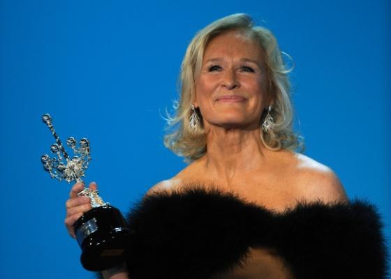 A atriz Glenn Close ganhou neste domingo (18) o prêmio Donostia por sua carreira no festival de San Sebastián, na Espanha