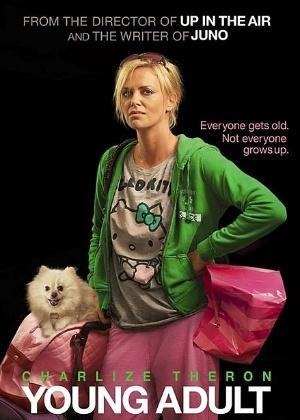 """Charlize Theron no pôster do filme """"Young Adult"""" - Reprodução"""