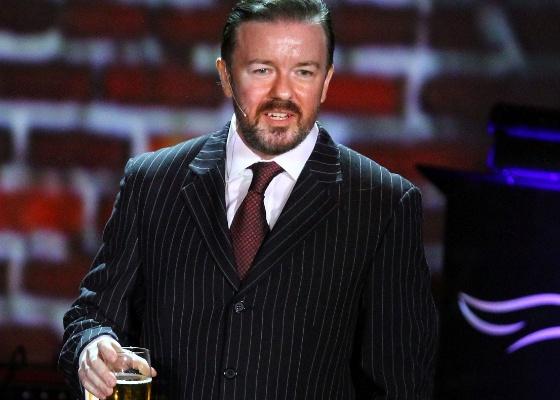 Ricky Gervais é o apresentador do Globo de Ouro pela terceira vez