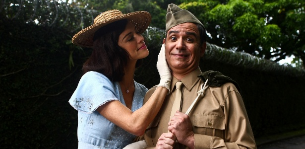 "Luana Piovani e Hubert em cena de "" As Aventuras de Agamenon, o Repórter"", de Victor Lopes"