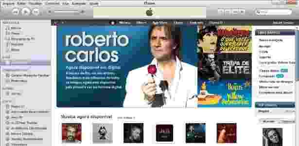 """iTunes Store chega ao Brasil e oferece catálogo com Roberto Carlos, Marisa Monte e """"Tropa de Elite 2"""" - Reprodução"""