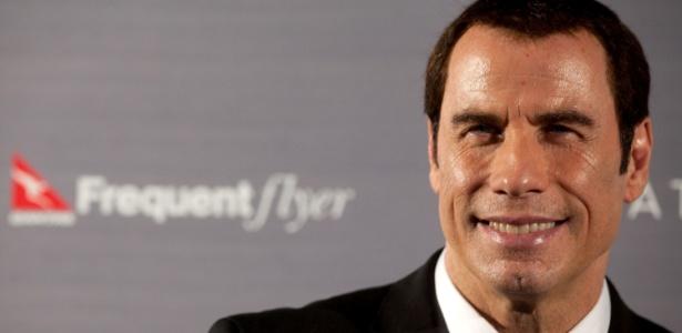 John Travolta participa de evento de uma companhia aérea em Sydney, na Austrália (16/11/11)