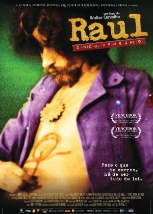 """Cartaz do filme """"Raul Seixas - O início, o fim e o meio"""""""