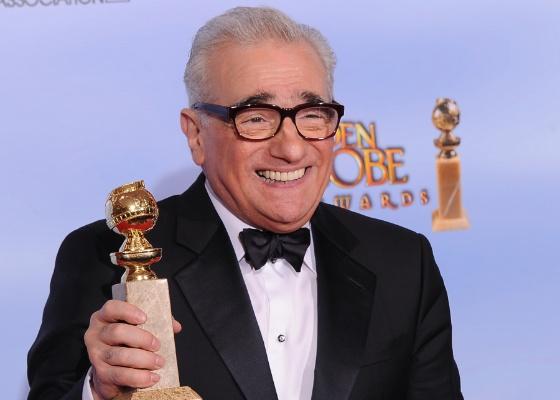 """O diretor Martin Scorsese ao receber o Globo de Ouro de melhor direção por """"A Invenção de Hugo Cabret"""" (15/1/12)"""