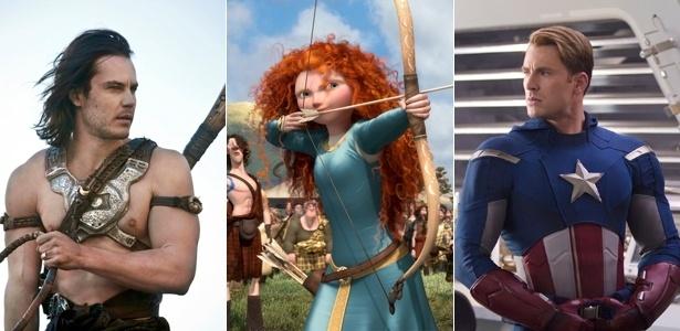 """Cenas dos filmes """"John Carter"""", """"Valente"""" e """"Os Vingadores"""", apostas da Disney para 2012"""