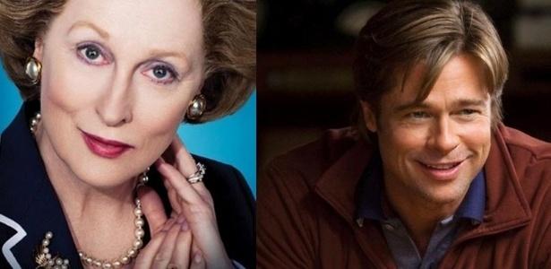 Meryl Streep e Brad Pitt, indicados ao Oscar 2012 nas categorias melhor atriz e melhor ator (24/1/12)