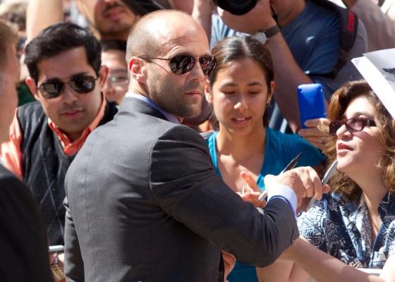 """O ator Jason Statham, que vai estrelar a refilmagem de """"Encurralado em Las Vegas"""", de Brian de Palma"""