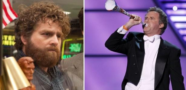 Montagem mostra atores Zach Galifianakis (esq.) e Will Ferrell, que apresentarão o Oscar 2012