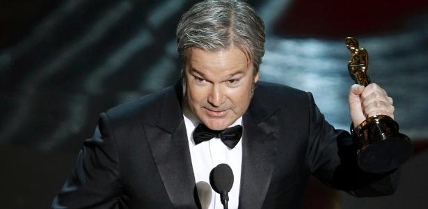 """Gore Verbinski recebe o Oscar de melhor animação por """"Rango"""" (26/2/12)"""