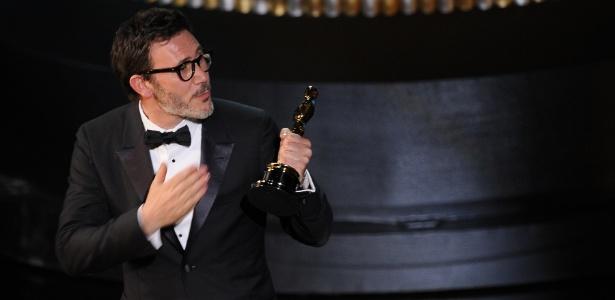 """Michel Hazanavicius vence como melhor diretor do Oscar 2012 por """"O Artista"""" (27/2/12)"""