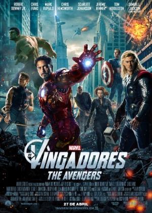 """Cartaz nacional do filme """"Os Vingadores"""", inspirado nos quadrinhos da Marvel"""